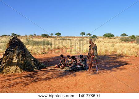 Bushmen Village, Kalahari Desert, Namibia