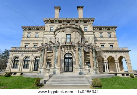 The Breakers is a one of the most fabulous building built in 1893 for Cornelius Vanderbilt and his family in Newport, Rhode Island, USA. This building is open to the public today.