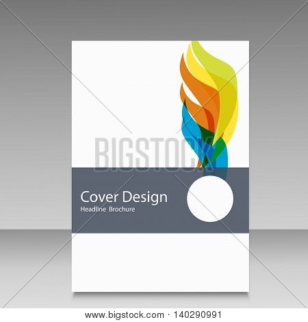 Brochure in colors of Brazil flag. Vector color concept.