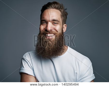 Bearded Handsome Man With Big Smile