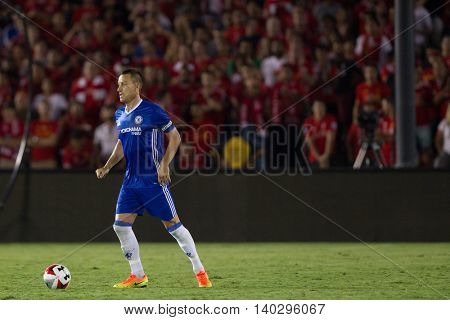 PASADENA, CA - JUNE 4: John Terry during the 2016 ICC game between Chelsea & Liverpool on July 27th 2016 at the Rose Bowl in Pasadena, Ca.