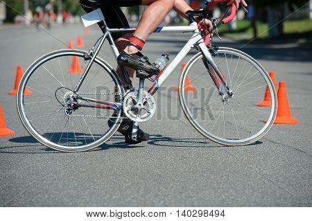 Triathlon Cup of Ukraine and Cup of Bila Tserkva. July 24 2016 in Bila Tserkva Ukraine. Cycling part