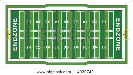 American Football Field Aerial View Illustration