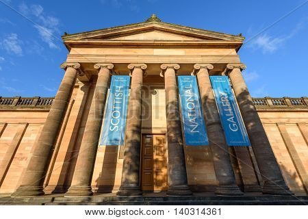 The Scottish National Gallery is the national art gallery of Scotland. It is located on The Mound in central Edinburgh in a neoclassical building.
