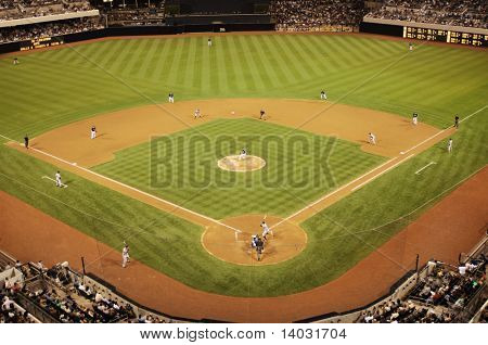 baseball diamond during game