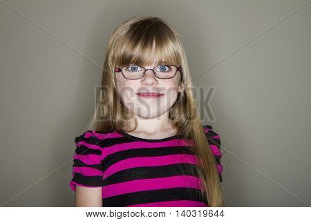 funny looking smile on this young girl