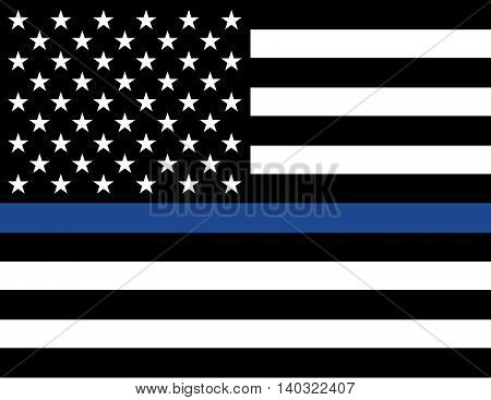 Law Enforcement Support Flag