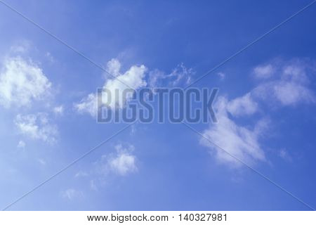 cloud in blue sky , nature background