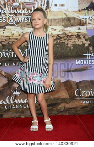 LOS ANGELES - JUL 27:  Giselle Eisenberg at the Hallmark Summer 2016 TCA Press Tour Event at the Private Estate on July 27, 2016 in Beverly Hills, CA