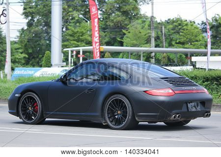 CHIANGMAI THAILAND -JULY 26 2016: Private car Porsche carrera 4s. On road no.1001 8 km from Chiangmai Business Area.