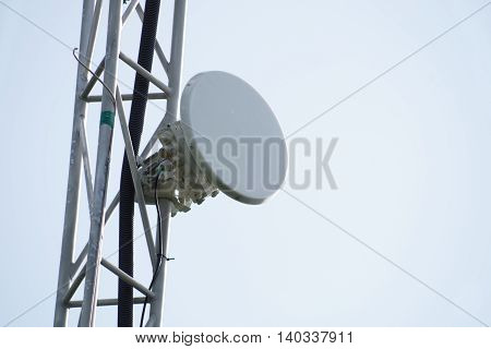 Telecommunication relay towers and antennas cellular wi-fi and other communication.