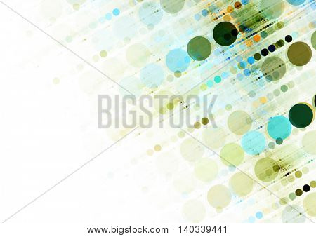 Textured Multi-Colored Circles Background Texture