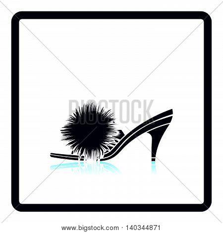 Woman Pom-pom Shoe Icon