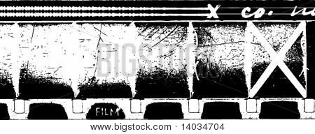 vector grunge 16mm film strip with soundtrack