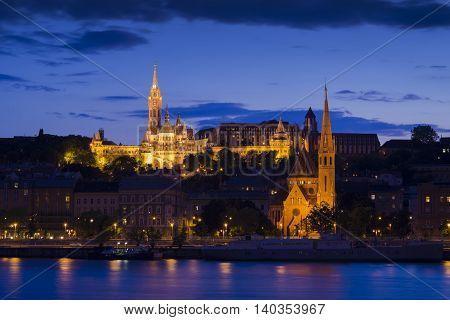 budapest, river, chain, szechenyi, view, magyar, dusk, parliament,