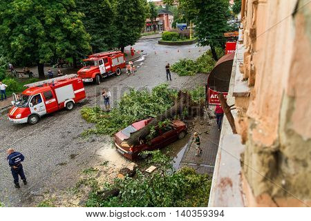 The Consequences Of The Hurricane In Uzhgorod