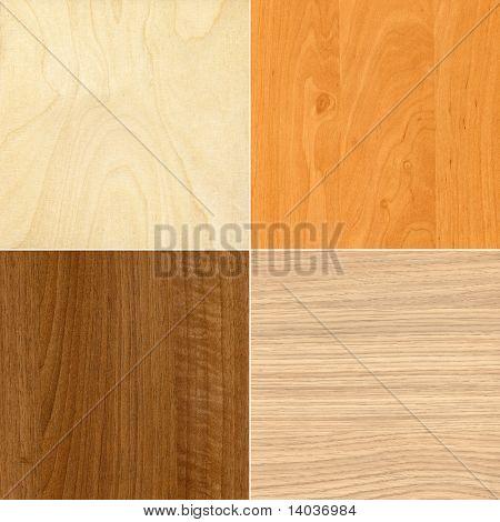 Set of wooden textures, backgrounds