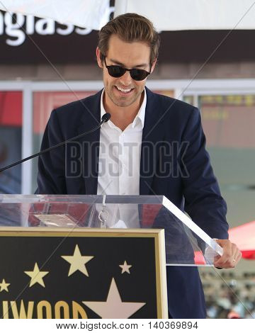 LOS ANGELES - JUL 28:  Sean Douglas at the Michael Keaton Hollywood Walk of Fame Star Ceremony at the Hollywood Walk of Fame on July 28, 2016 in Los Angeles, CA