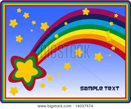 rainbow vector background