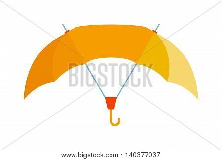 Cute multi colored umbrella in flat design style. Autumn accessory concept fashion umbrella. Colorful flat comfort umbrella outdoor element, climate protective sign.