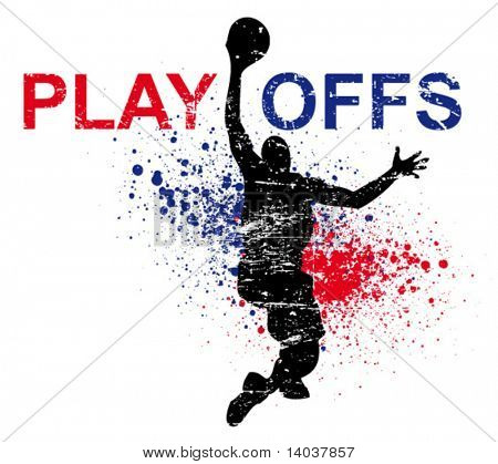 basketball vector poster
