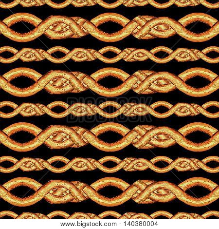 Horizontal Stripes Lace Seamless Pattern