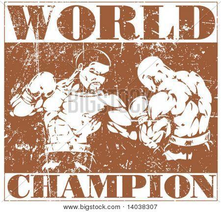 grunge boxing poster 2