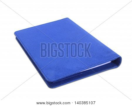 The blue Notebook isolate on white background.