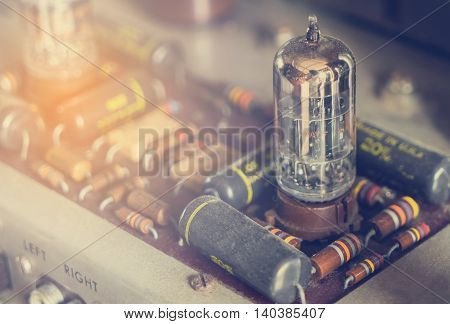 Vintage tube bulb used in Audio hifi in vintage tone