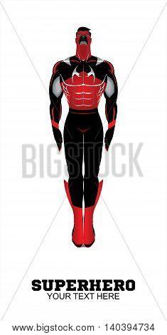 superhero. full body of flying superhero on white background