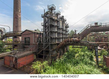Landschaftspark Nord Duisburg blast fornace Nature and Industry