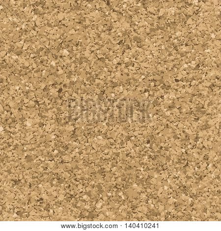 Cork texture. Vector seamless pattern. Bulletin board endless background