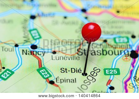 St-Die pinned on a map of France