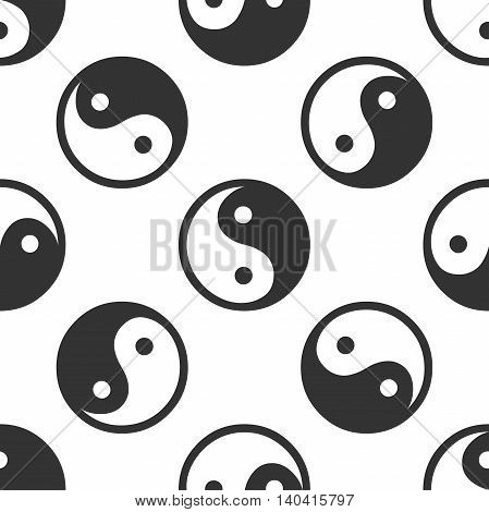 Yin Yang symbol icon pattern on white background. Adobe illustrator