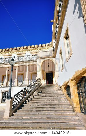 Stairs in Coimbra university in city of Portugal