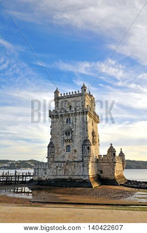 Belem tower in Lisbon city of Portugal