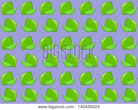 Lime seamless pattern. Seamless pattern with juicy limes. Green lime seamless pattern. Flat vector seamless pattern. Flat lime on the tree. Lime tree