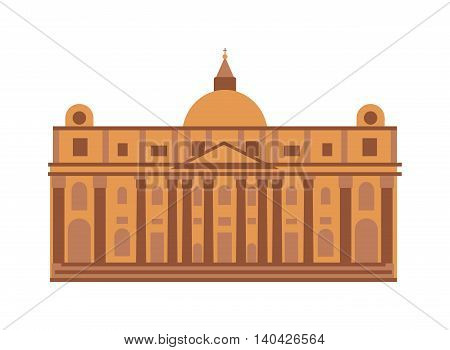 War memorial museum building with quote ancient greek philosopher museum building vector. Museum building building architecture and city exterior museum building construction ancient history landmark.