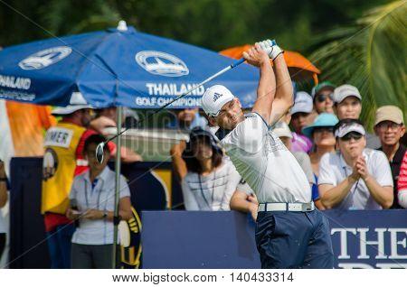 CHONBURI - DECEMBER 13 : Sergio Garcia of Spain player in Thailand Golf Championship 2015 at Amata Spring Country Club on December 13 2015 in Chonburi Thailand.