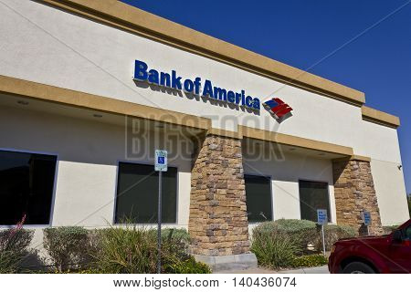 Las Vegas - Circa July 2016: Bank of America Bank and Loan Branch. Bank of America is a Banking and Financial Services Corporation IV