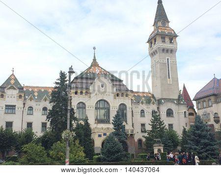Romania, August 22, 2015, Tirgu Mures, Transylvania,Marosvásárhely Polgármesteri Hivatal Erdély