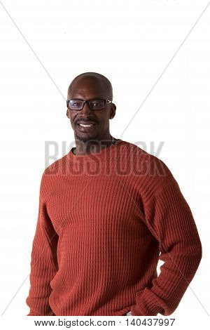 Portrait of middled man isolated on white