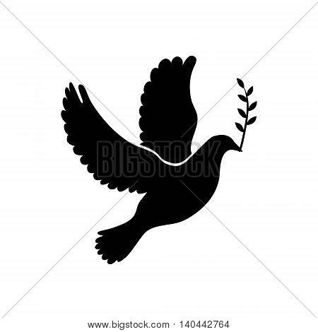 Dove of peace simple icon. Dove of peace vector icon sign. Vector illustration