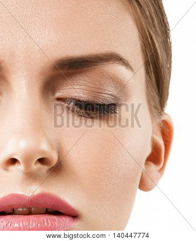 Eyes Down Woman Half-face