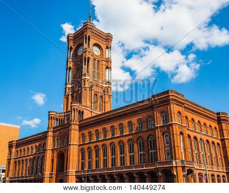 Rotes Rathaus In Berlin Hdr