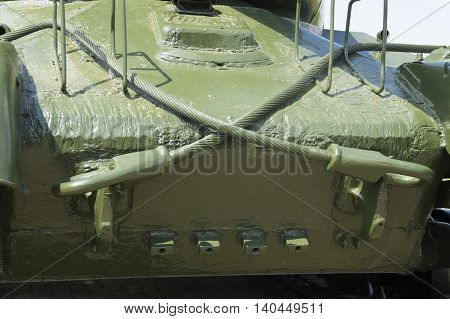 photo on the frontal armor of the Soviet T-34 tank
