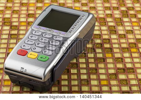 POS payment mobile gprs terminal on table