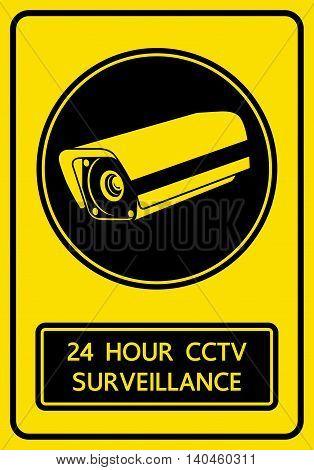 CCTV security camera sign snd symbol vector illustration