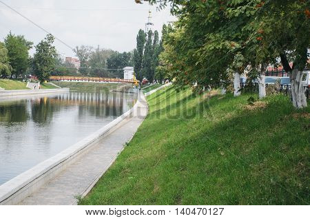 Embankment on the river Orlik. Orel sity