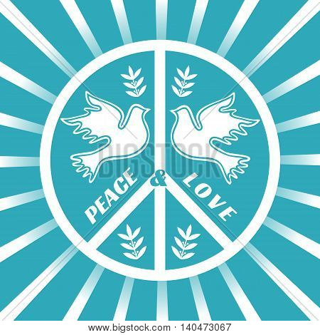 Flying dove. Freedom concept. Peace symbol. Peaceful dove. Liberty independence placard. Peace logo concept. Pacifist logo. Protest banner. Revolution emblem. Demonstration poster. Vector illustration
